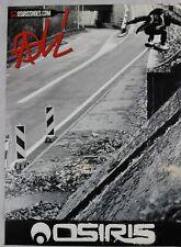 Anni 2000 Osiris ALI Boulala Skateboard POSTER reversibile