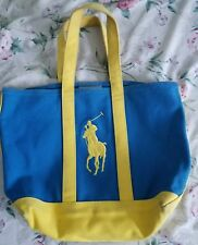 1dcb5dbf8d Material  Faux Leather. Women s Polo Blue Yellow Tote Bag