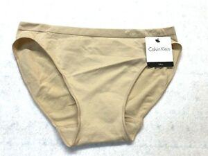 NWT Calvin Klein Seamless Bikini Underwear Panty QD3545-Color Bare-Size XL(100)