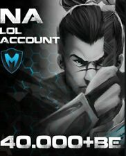 NA League Of Legends Account LOL NA Smurf 50k+BE Unranked Level 30 HIGH QUALITY