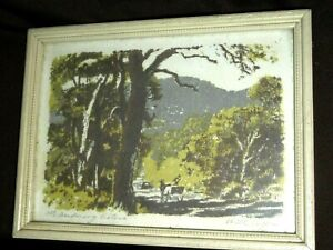 Antique Listed Artist Will Eager Painting Mt Dandenong Victoria Landscape Framed