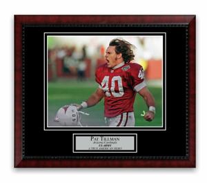 Pat Tillman Unsigned Photo Custom Framed to 11x14 Arizona Cardinals