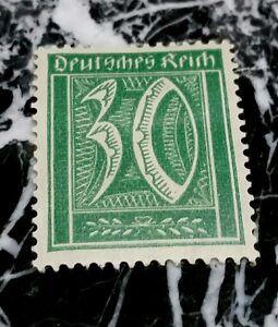 GERMANY DEUTSCHES REICH 1922 30pf  Cat,value 557$ UNUSED Hinged WATERMARK2