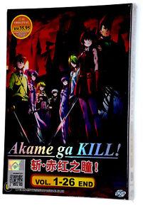 NEW DVD Japan Anime AKAME GA KILL! Complete TV Series VOL 1-26 English Subtitles
