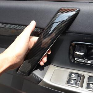 Fit for Mitsubishi Pajero V80 2007-2021 Black Inner Door Armrest Strip Trim 4PCS