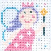 ANCHOR Children First Cross Stitch Kit 8-Count Binca 10x10 cm Various Patterns