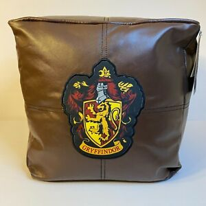 """Harry Potter Hogwarts 13"""" x 13"""" Cube Faux Leather Floor Brown Bean Bag Seating"""
