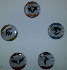 Khans of Tarkir -  ALL 5 CLAN PINS  - COMPLETE SET - PreRelease  Clan Colors