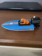 Vintage 1978 Tomy Toys Boat Windup Outboard Motor Works