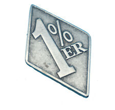 """Hells Angels Support 81 Pin """"1%"""" in Silber NEU"""