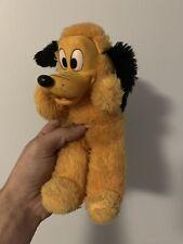 Vintage 1950's PLUTO Walt Disney Plush Rubber Face - Crushed Nutshell Stuffing!