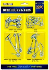 New Gate Hooks and Eyes Latch Cabin Door Rabbit Hutch Assorted kit 22 Pack UK