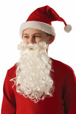 Festive Panto White Santa Beard Light Christmas Fancy Dress Adults Children