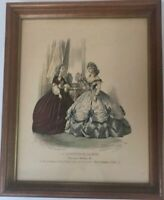 Vintage LE MONITEUR DE LA MODE Lithograph Signed by Jules David & P Deferneville