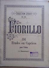) album ancien partition FIORILLO 36 études ou caprices pour violon  - Litolff