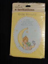 Vtg 1983 Hallmark Betsey Clark Baby Shower Invitations Gods Precious Gift Sealed