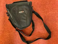 ZEIKOS ~ PADDED CANVAS CAMERA / CAMCORDER BAG WITH 3 POCKETS & ADJUSTABLE STRAP