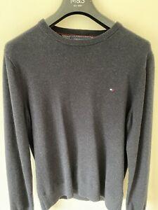 TOMMY HILFIGER Pima Cotton Cashmere Round Neck Jumper - Size Medium