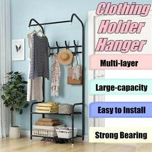 Portable Clothes Rack Rail Hanger Stand Garment Wardrobe Closet Organiser Shelf