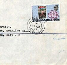 GAMBIA Cover *Banjul* Commercial Air Mail Postal History MALTESE CROSS 1979 CF34
