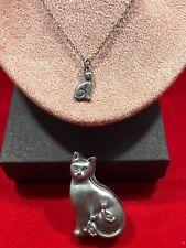 TORINO Pewter Cat Set:  Necklace, Earrings, Pin & Trinket Box