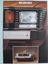 Prospekt Suzuki SC 100 GX, LJ 80 / LJ 80V, ca.1978, 12 Seiten, holländisch
