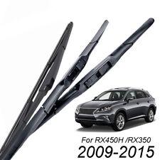 "3Pcs 26""22""16"" Front Rear Windshield Wiper Blades For Lexus RX450H RX350 09-15"