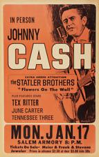 JOHNNY CASH CIRCA 50'S / 60'S SALEM ARMORY A3 CONCERT BILL POSTER PRINT