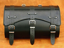 MOTORCYCLE HIGH QUALITY LEATHER REAR BAG TOP CASE SADDLEBAG PANNIER TRIKE HD VW