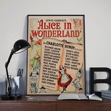 Lewis Carrolls Alice In Wonderland Movie Film Poster Print Picture A3 A4 Posters