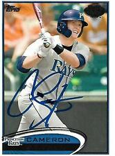 Cameron Seitzer Tampa Bay Rays 2012 Topps Pro Debut Signed Card