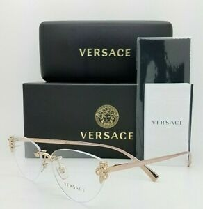 NEW Versace RX Frame Glasses VE1254B 1429 54mm Rose Gold AUTHENTIC women rimless