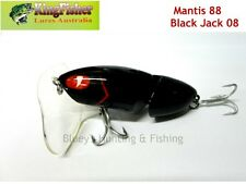 Kingfisher Mantis 88mm jointed cod surface lure; 08 black jack + spare bib