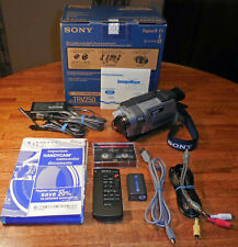 Sony Handycam Dcr-Trv250 Digital-8 Camcorder, Japan, original box & accessories