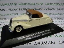 Voiture 1/43 M6 Universal Hobbies / norev  RENAULT Viva grand sport ACX 2 1935