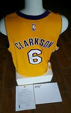 JORDAN CLARKSON SIGNED AUTOGRAPHED LAKERS YELLOW JERSEY  Lakers LOA NWT