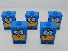 Lego Lot of 5  Spongebob Square Pants Super Hero Head Covers