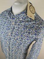 Bnwt Mens Pretty Green X Liberty Floral Shirt Blue Xs Small 38 Chest Classic Fit