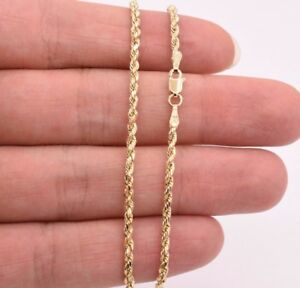 2.0mm Twisted Rope Chain Ankle Bracelet Anklet Real 10K Yellow Gold 10""