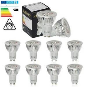10x High Power GU10 6W=50w LED Bulbs Spotlight Downlight Daylight White Lamp