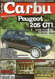CARBU 15 SPECIAL PEUGEOT 205 GTI 1.6 105CH 115CH & PEUGEOT 205 GTI 1.9 130CH