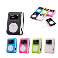 Mini Metal Music Clip MP3 Player USB LCD Screen Support 32GB Micro SD TF Card