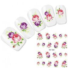 Nagel Sticker Nail Art Aufkleber Blumen Flower Water Decal