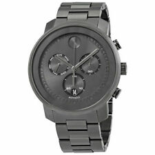 Movado Men's 3600486 Bold 48mm Gunmetal Dial Stainless Steel Watch