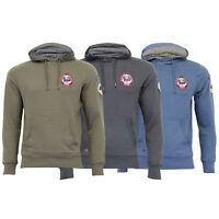 Mens Sweatshirt Tokyo Laundry Over The Head Hoodie Top Applique Fleece Winter