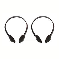 2 PAIRS of STEREO HEADPHONES with 5m LEAD IDEAL FOR TV, HI-FI, COMPUTER