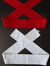 "Set of 2 Japanese Martial Arts Sports Hachimaki Headband ""Kohaku"" Red/White/37""L"