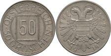 50 Groschen Nachtschilling 1934 Österreich, Adler #L668