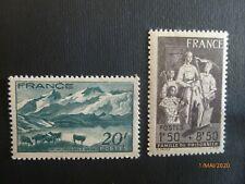 TIMBRE FRANCE 1943 NEUF YT 582/585 LAC LERIE ET LA MEUSE/FAMILLE DE PRISONNIER
