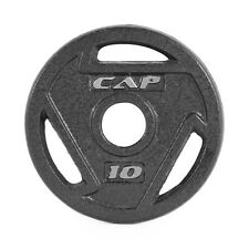 """2-PACK Solid Cast Iron 2"""" CAP Barbell Olympic Workout Grip Plate, 10 lbs"""